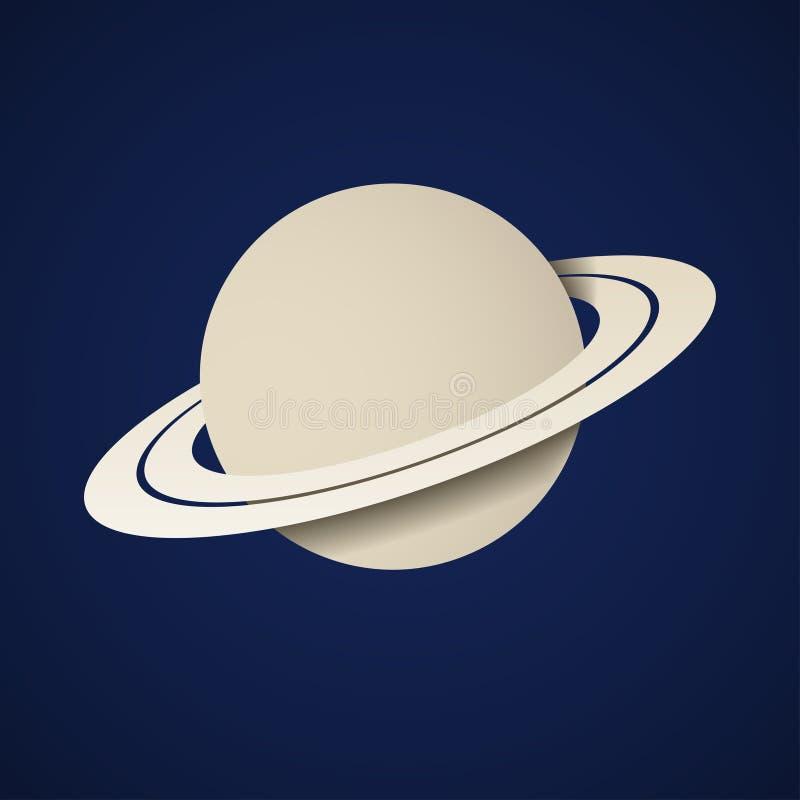 Icono de papel de Saturno del planeta libre illustration