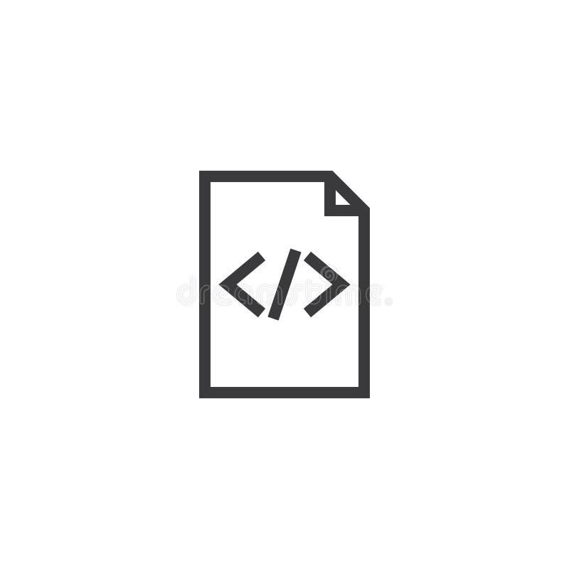 Icono de papel del esquema del documento icono aislado del papel de nota en la línea estilo fina para el gráfico y el diseño web  ilustración del vector