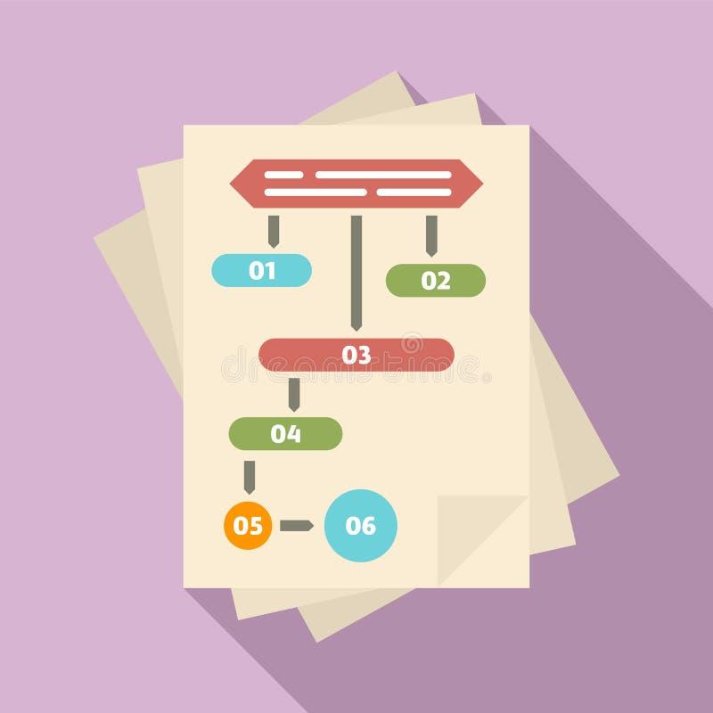 Icono de papel del flujo de trabajo, estilo plano libre illustration