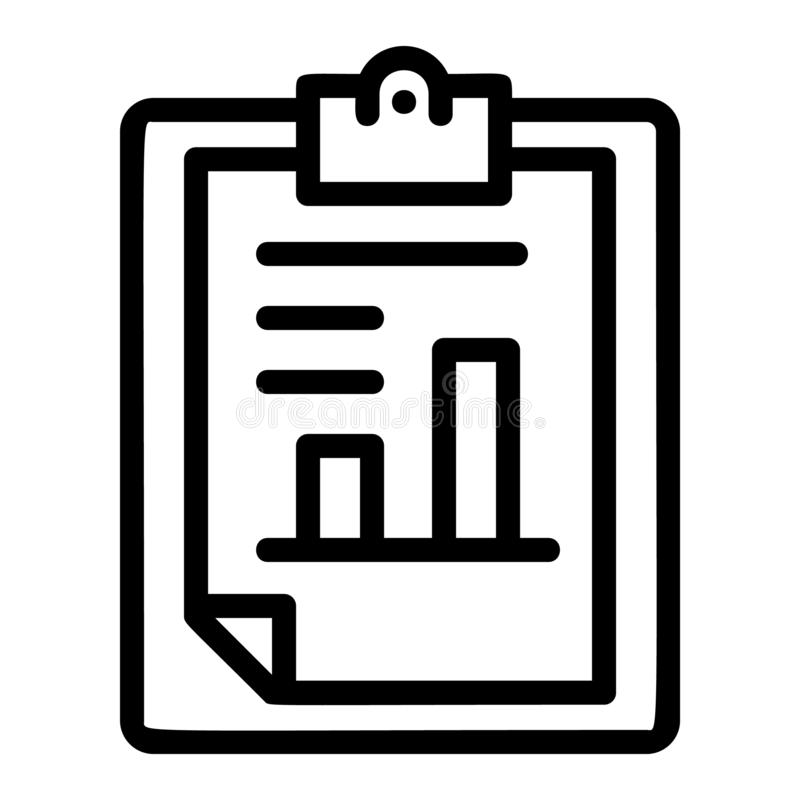Icono de papel del gráfico de las finanzas, estilo del esquema ilustración del vector