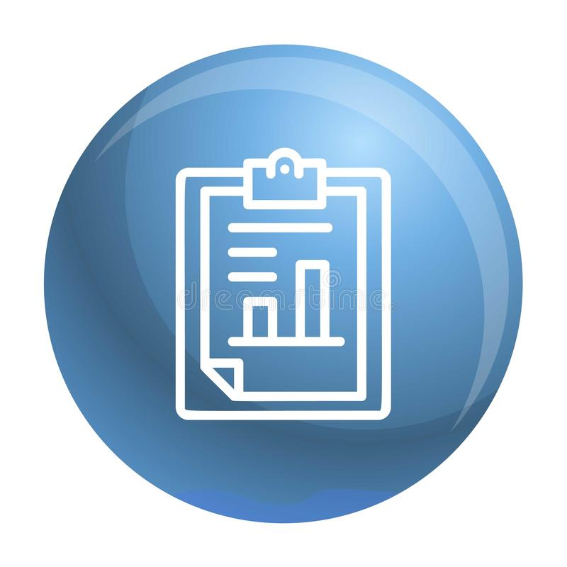 Icono de papel del gráfico de las finanzas, estilo del esquema libre illustration