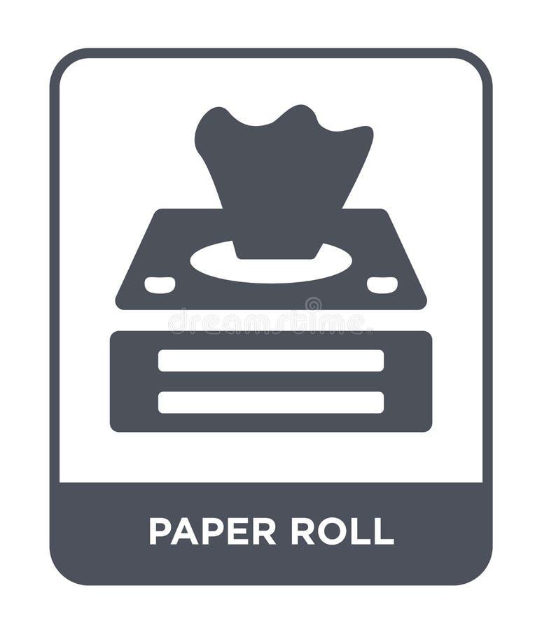icono de papel del rollo en estilo de moda del diseño icono de papel del rollo aislado en el fondo blanco icono de papel del vect ilustración del vector