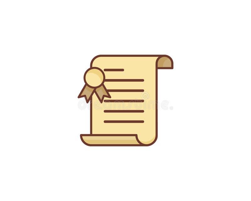 Icono de papel Logo Design Element de la voluta libre illustration