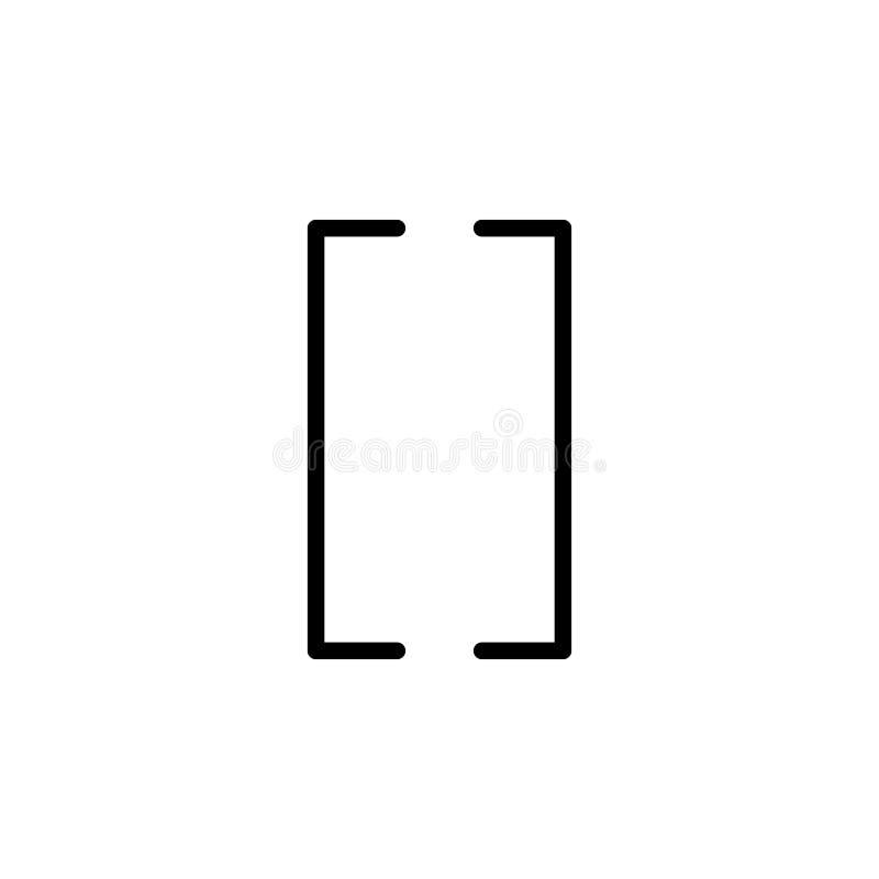 Icono de paréntesis Puede ser utilizado para la web, logotipo, app móvil, UI, UX libre illustration