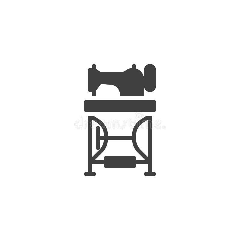 Icono de pedales del vector de la máquina de coser ilustración del vector