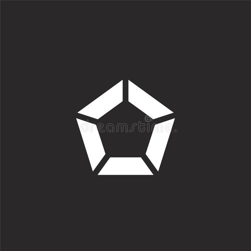Icono de Pent?gono Icono llenado del pentágono para el diseño y el móvil, desarrollo de la página web del app icono del pentágono libre illustration