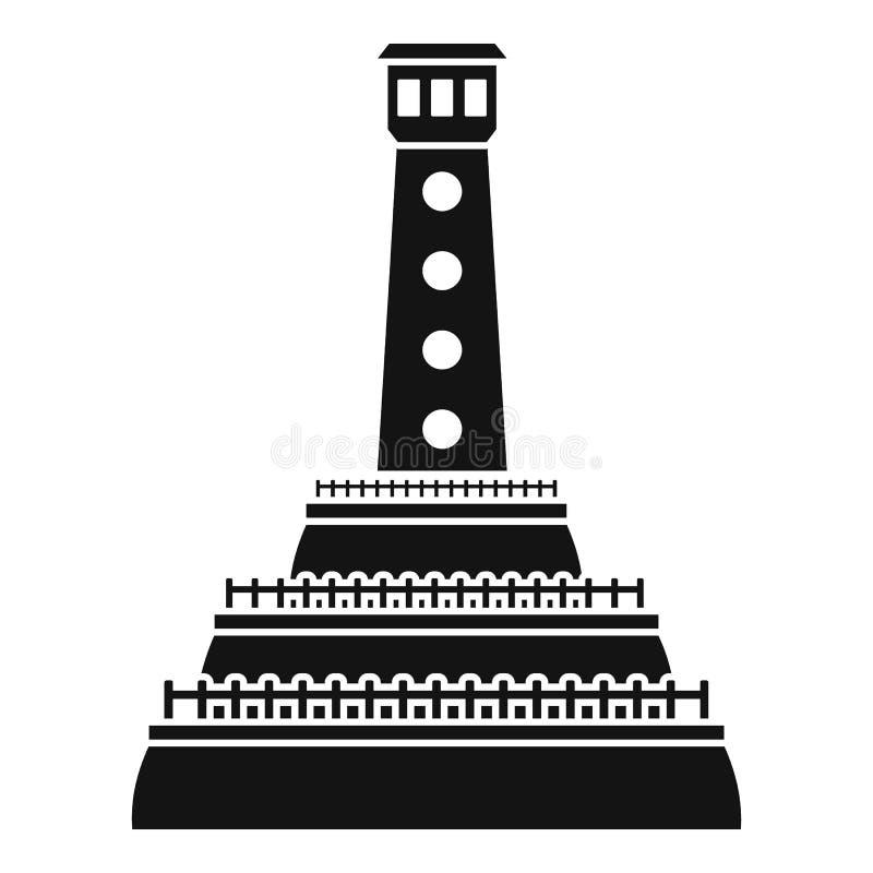 Icono de piedra del faro, estilo simple libre illustration
