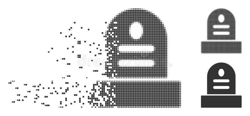 Icono de piedra grave de semitono de desaparición del pixel ilustración del vector