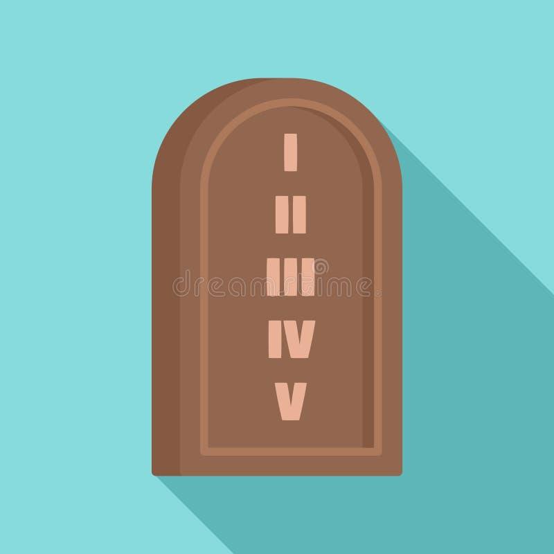 Icono de piedra judío de la tableta, estilo plano libre illustration