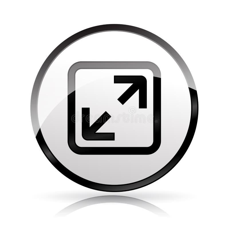 Icono de plena pantalla en el fondo blanco stock de ilustración