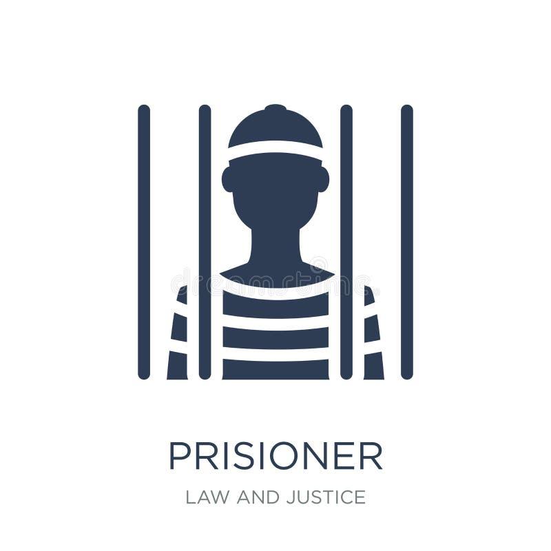 Icono de Prisioner Icono plano de moda de Prisioner del vector en el backg blanco ilustración del vector