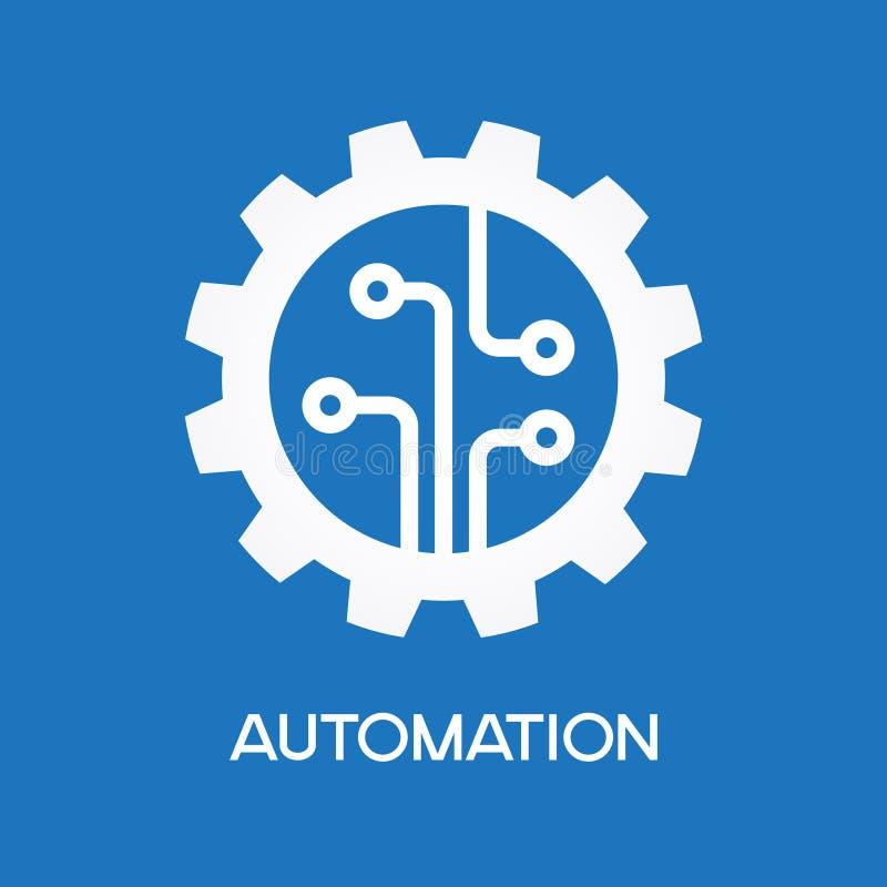 Icono de proceso automático ilustración del vector