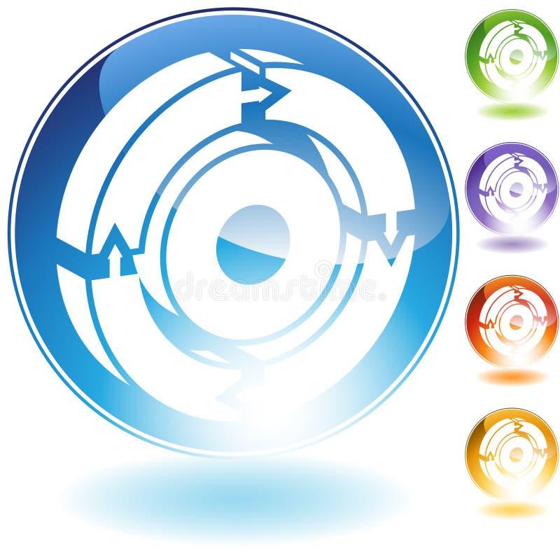 Icono de proceso del flujo de trabajo ilustración del vector