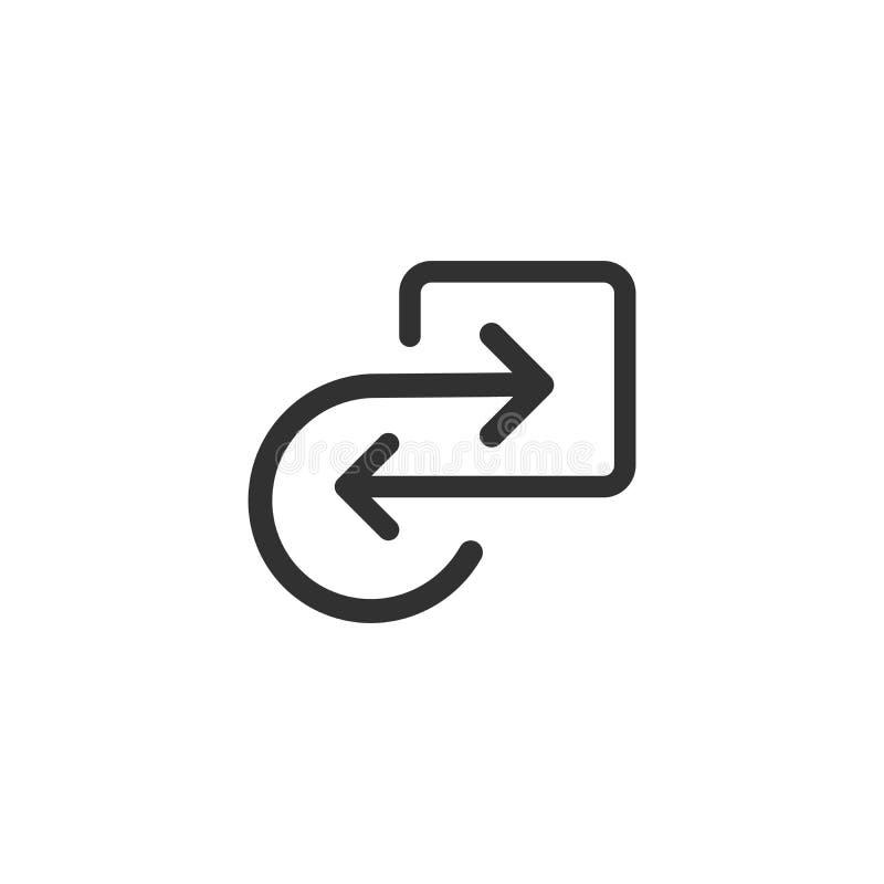 Icono de proceso repetidor con la explicación cuadrada de las flechas El icono refleja la industria de la energía renovable, del  ilustración del vector