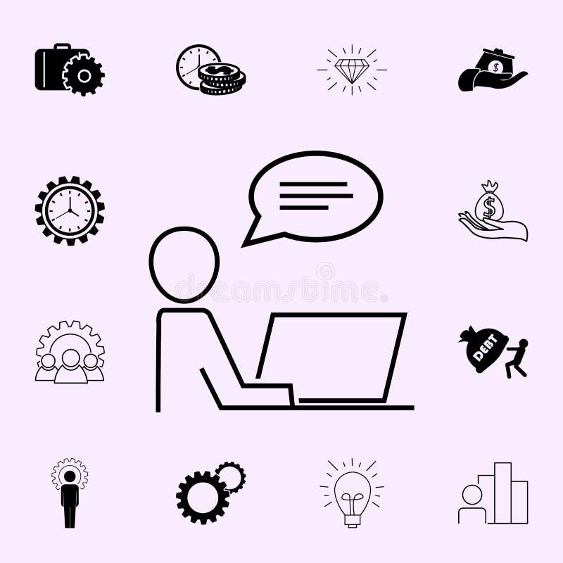 Icono de proceso de trabajo Sistema universal de los iconos del beneficio para la web y el m?vil ilustración del vector