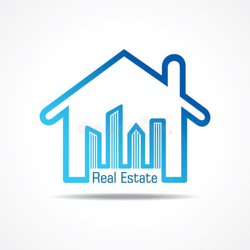 Icono de Real Estate para el concepto de la propiedad de la venta ilustración del vector