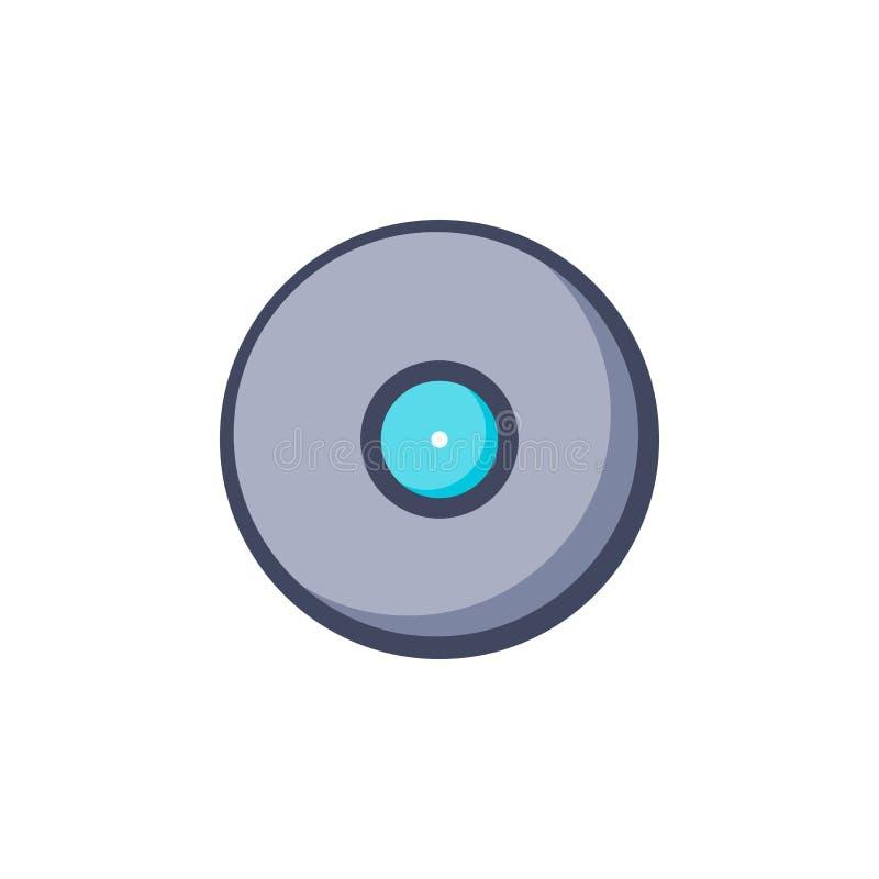 Icono de registro de la m?sica Disco aislado de los sonidos de la música ilustración del vector