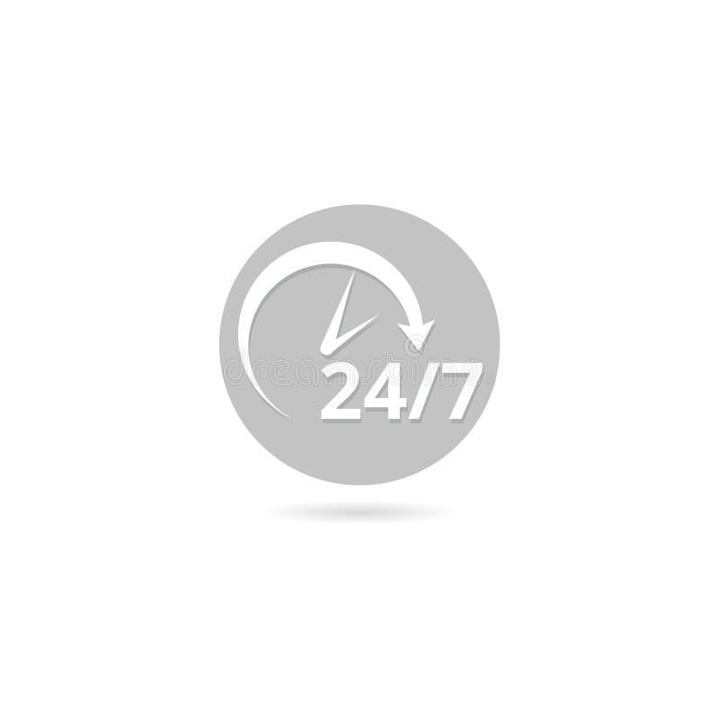 24 Ayudas De La Hora, Icono Del Reloj Aislado En El Fondo Blanco Ilustración del Vector - Ilustración de hora, icono: 127269979