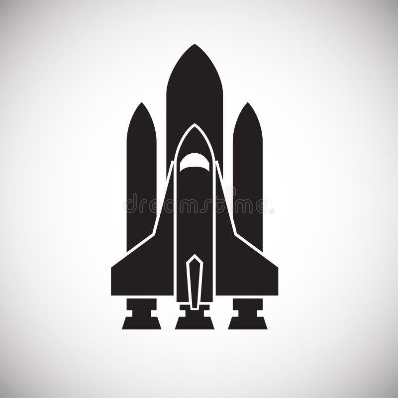 Icono de Rocket en el fondo para el gr?fico y el dise?o web Muestra simple del vector S?mbolo del concepto de Internet para el bo foto de archivo