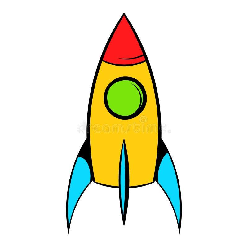 Icono de Rocket, historieta del icono libre illustration
