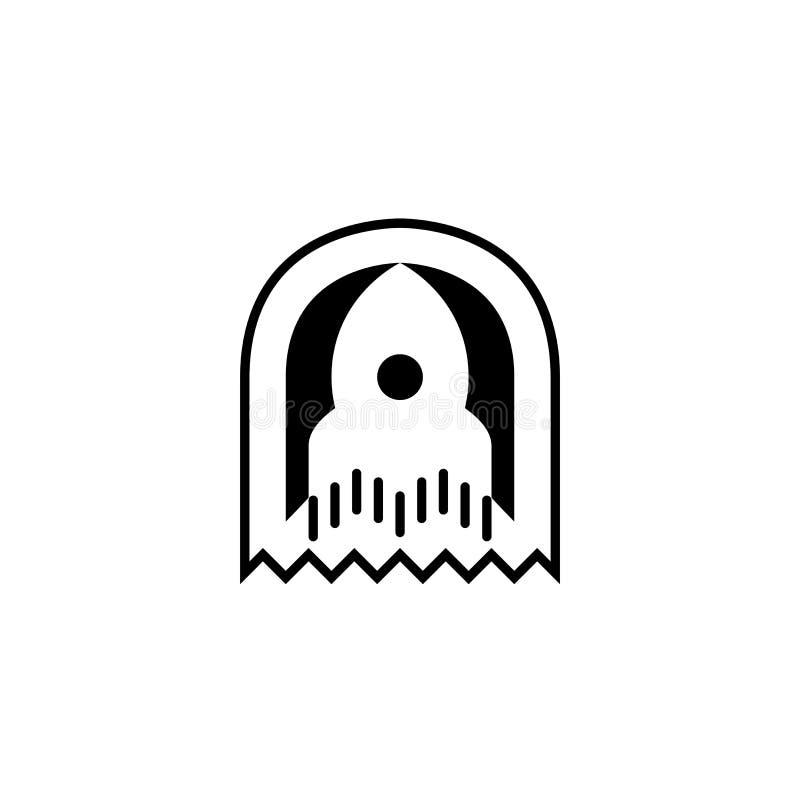 Icono de Rocket Plantilla del logotipo ilustración del vector