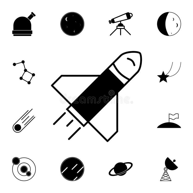 Icono de Rocket Sistema detallado de iconos del espacio Muestra superior del diseño gráfico de la calidad Uno de los iconos de la stock de ilustración