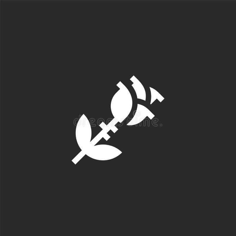 Icono de Rose Llenado subió el icono para el diseño y el móvil, desarrollo de la página web del app icono color de rosa de la col stock de ilustración