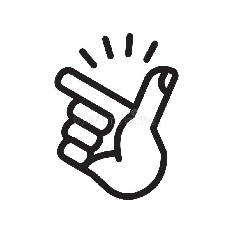 Icono de rotura del finger, ejemplo del vector libre illustration