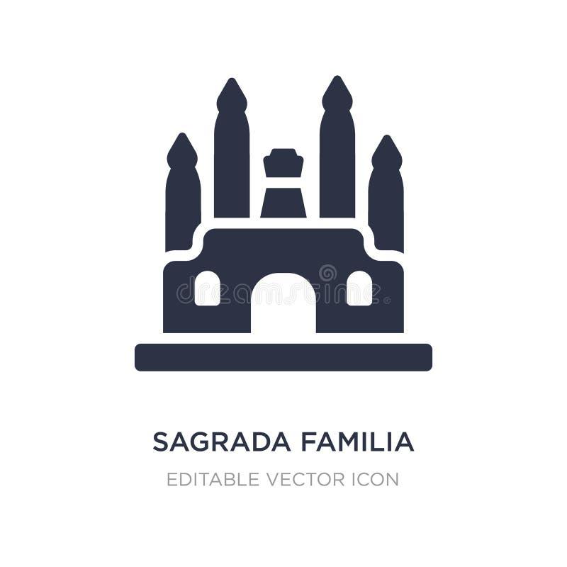 Icono de Sagrada Familia en el fondo blanco Ejemplo simple del elemento del concepto de los monumentos libre illustration