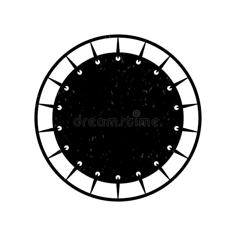 Icono de salto del trampolín de la visión superior Logotipo plano para el parque del trampolín Deporte activo sano ilustración del vector