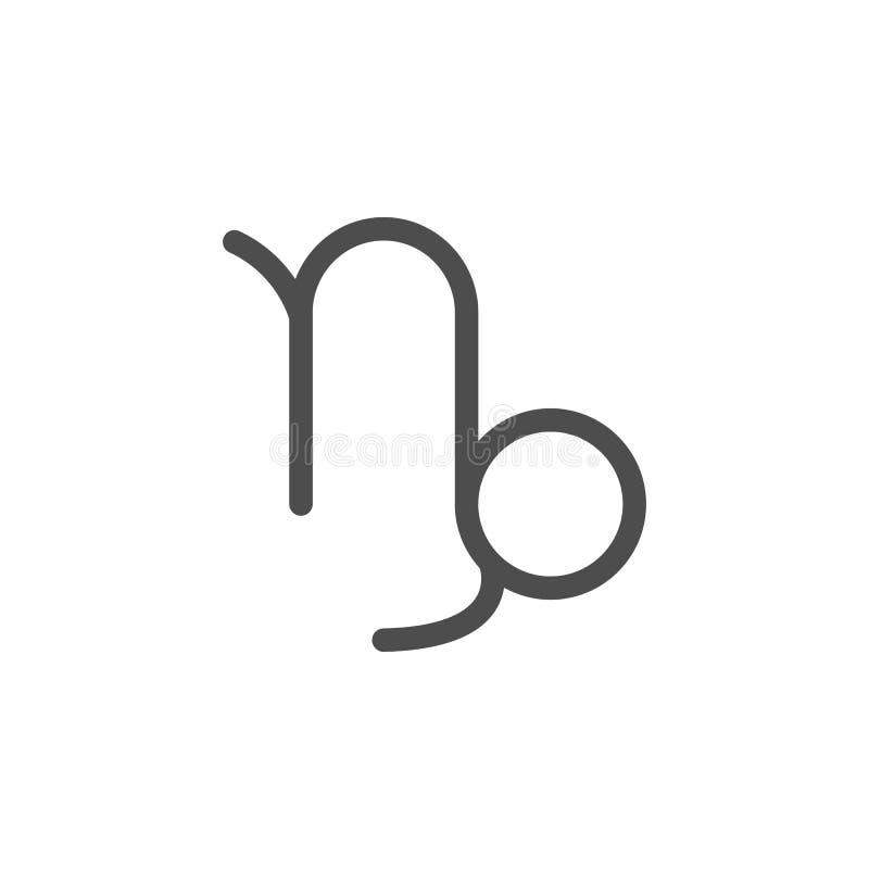Icono de Saturn del Capricornio del zodiaco Elementos del icono del web Icono superior del diseño gráfico de la calidad Muestras  libre illustration