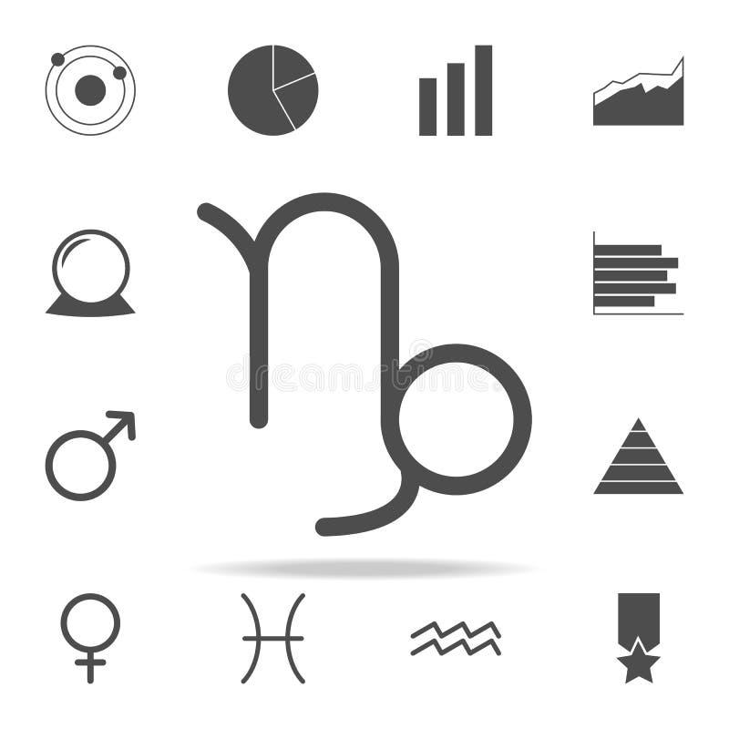 Icono de Saturn del Capricornio del zodiaco sistema universal de los iconos del web para el web y el móvil libre illustration
