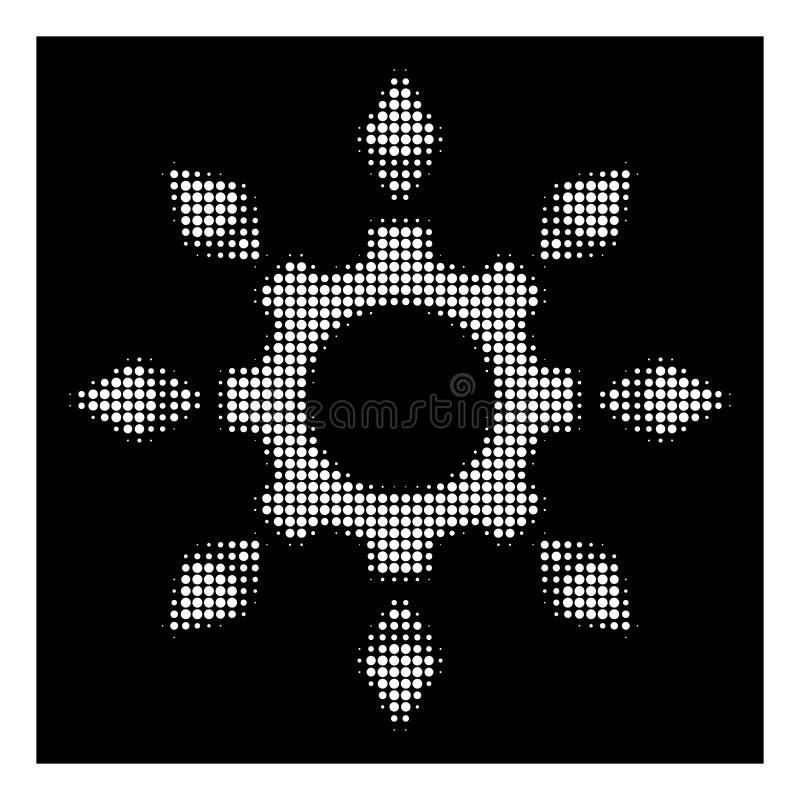 Icono de semitono blanco del engranaje de la configuración de Ethereum stock de ilustración
