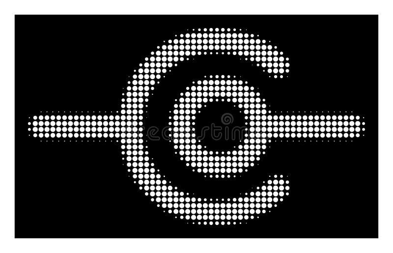 Icono de semitono blanco de la conexión del alambre stock de ilustración