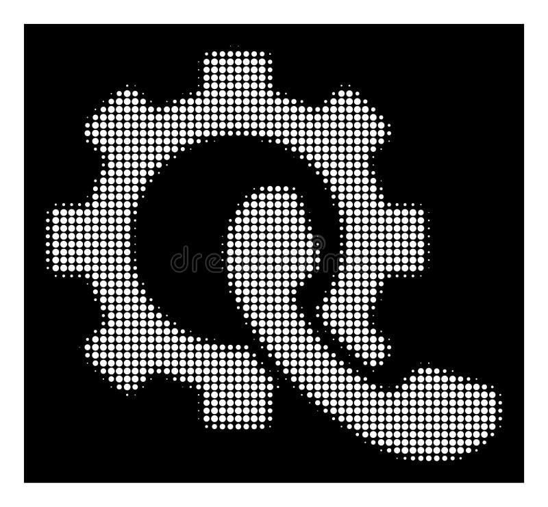 Icono de semitono blanco de la configuración del teléfono libre illustration