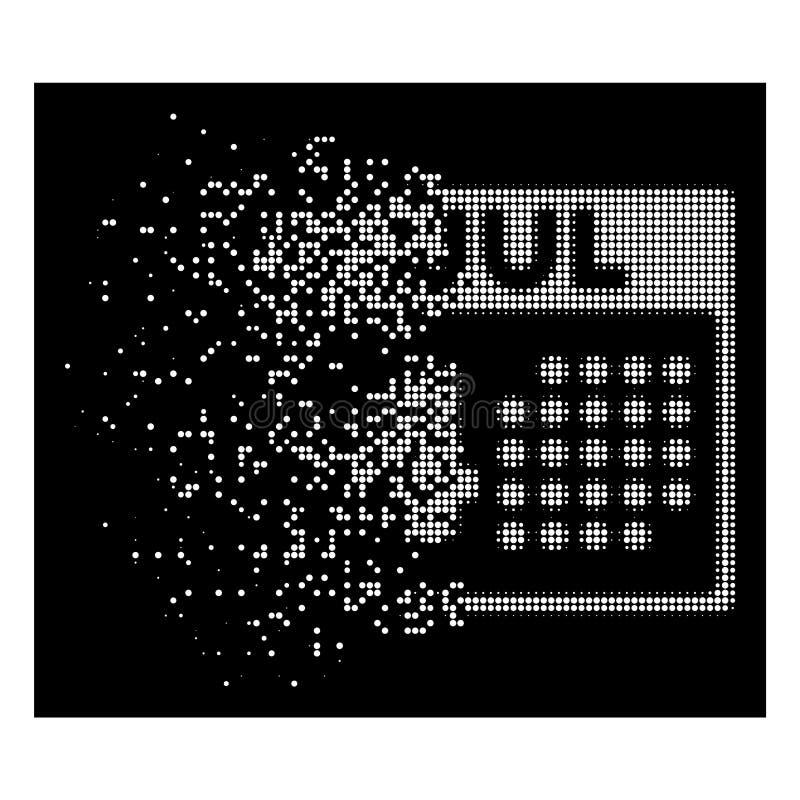 Icono de semitono dañado brillante del Día de la Independencia de Pixelated stock de ilustración