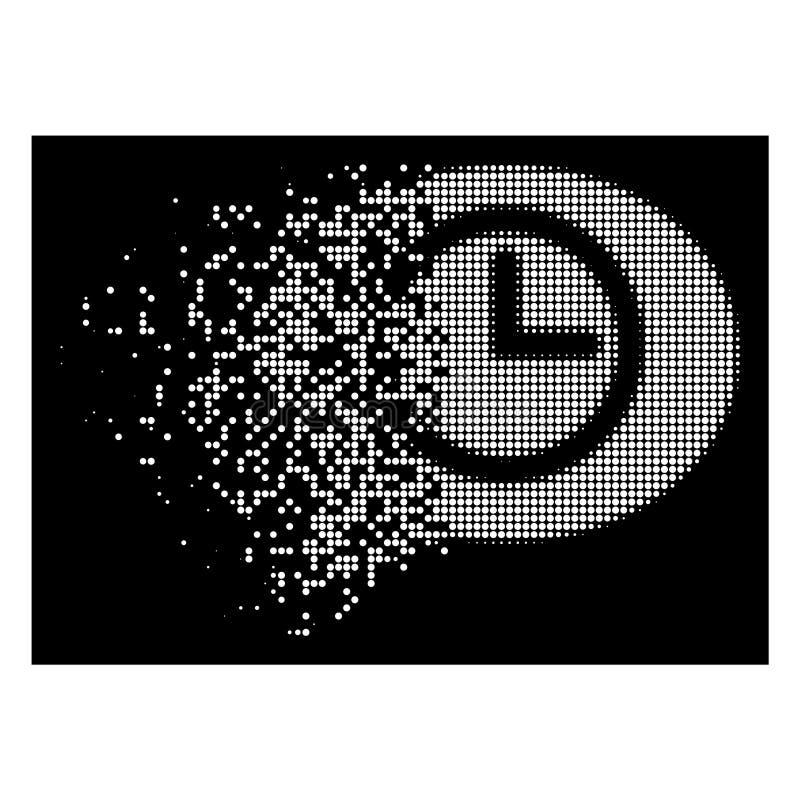 Icono de semitono de desaparición brillante del tiempo de mensaje de Pixelated ilustración del vector