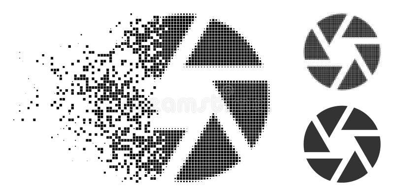 Icono de semitono de desintegración del obturador de Pixelated libre illustration