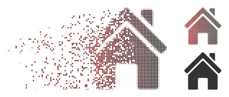 Icono de semitono Destructed de la construcción del pixel libre illustration