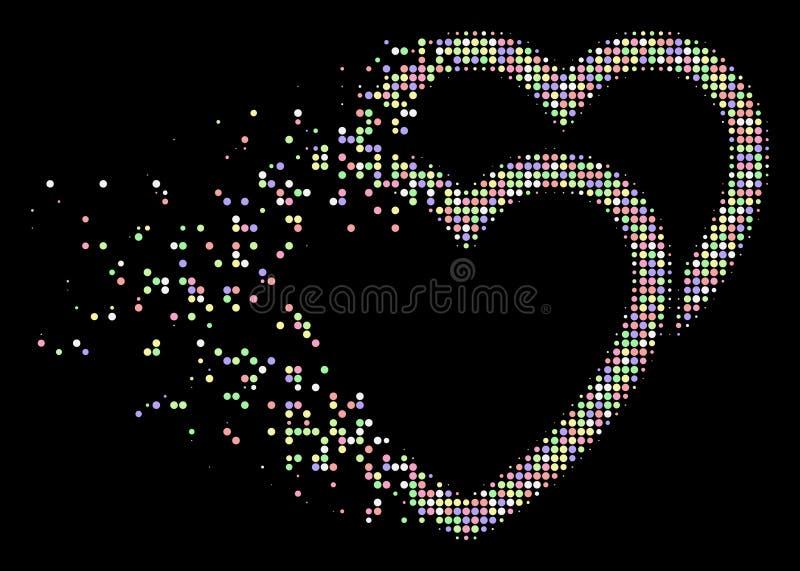 Icono de semitono Destructed suavidad de los corazones del amor del pixel libre illustration