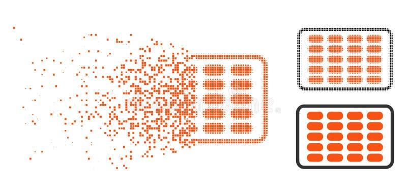 Icono de semitono de disolución de la ampolla de Pixelated libre illustration