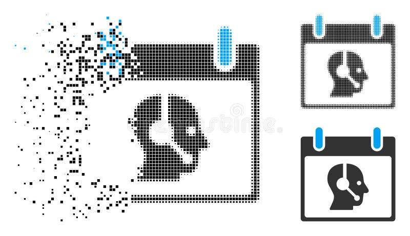 Icono de semitono disperso del día natural del operador de Pixelated libre illustration