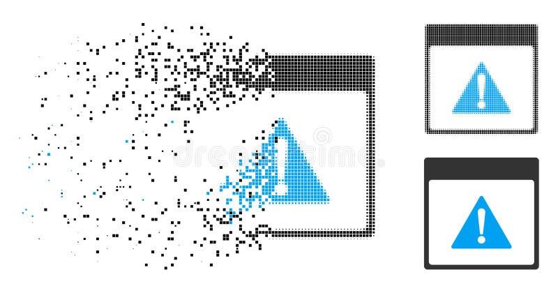 Icono de semitono disperso de la página del calendario del error de Pixelated libre illustration