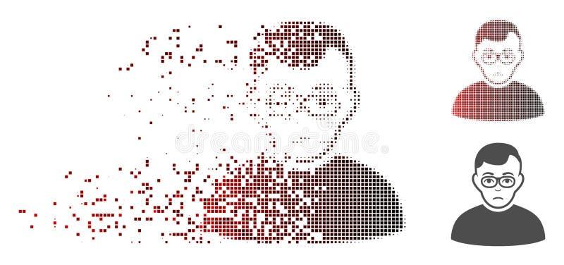 Icono de semitono disuelto del muchacho del tranquilizante del pixel libre illustration