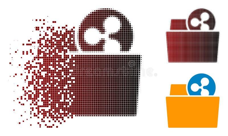 Icono de semitono disuelto de la carpeta de la ondulación de Pixelated stock de ilustración