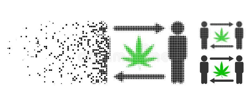 Icono de semitono de mudanza del intercambio del cáñamo de los hombres de Pixelated stock de ilustración