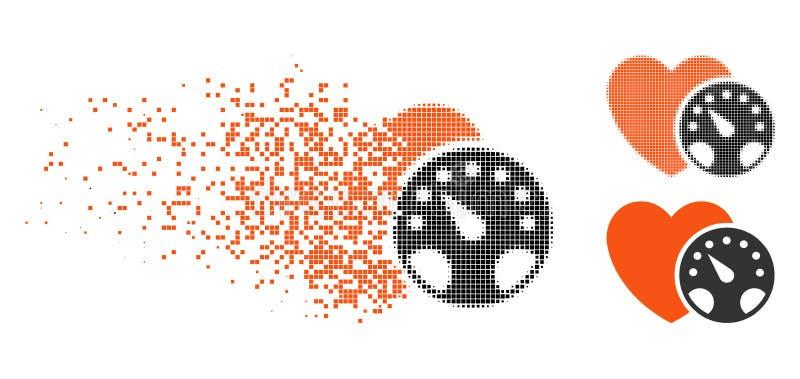 Icono de semitono punteado fracturado del metro de la presión arterial libre illustration