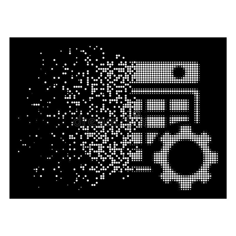 Icono de semitono punteado polvo brillante de la configuración del calendario stock de ilustración