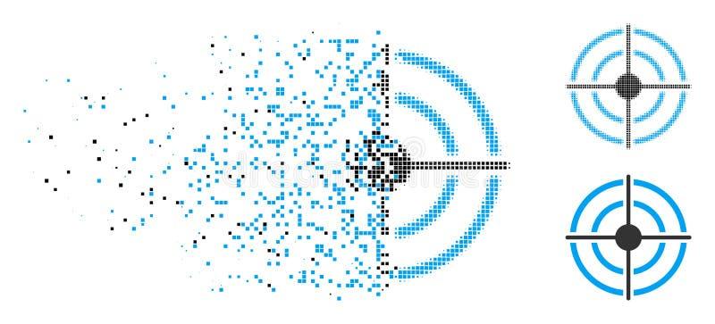 Icono de semitono quebrado de la blanco de Pixelated ilustración del vector