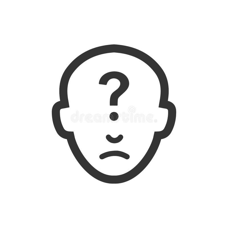 Icono de sensaci?n de la duda stock de ilustración